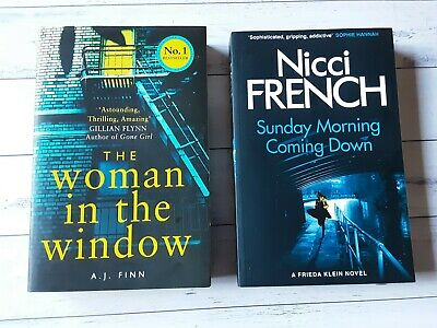AU22 • Buy 2 X Books The Woman In The Window + Sunday Morning Coming Down Novel Paperback