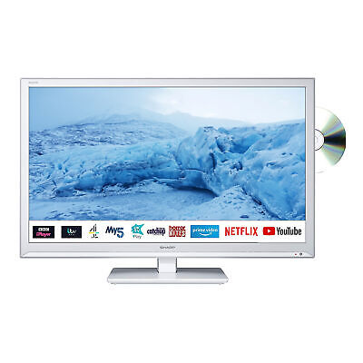 £189.99 • Buy Sharp 24  Inch HD Ready LED Smart TV With Built-In DVD Player - A Grade