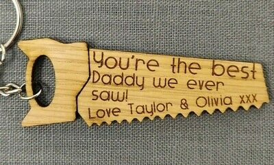 £4.49 • Buy Personalised Fathers Day Gifts Dad Daddy Grandad Step Birthday Gift Keyring