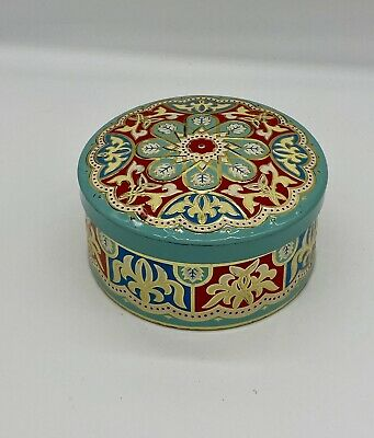 Vintage Gray Dunn Biscuit Sweet Round Tin Blue And Red - Scottish • 9.99£