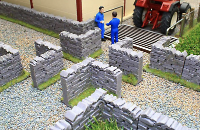 £14.99 • Buy Brushwood Toys 1:32 Scale Authentic Stone Wall Corner Sections Bt3007