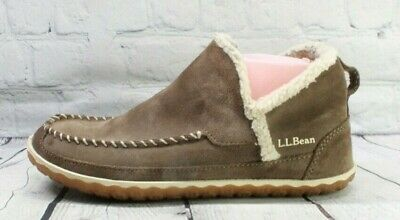 £24.63 • Buy LL BEAN Women's Brown Suede Mountain Moccasin Slipper Boots Size 10