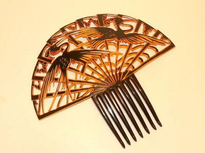 £125.81 • Buy 1920's Beautiful Very Rare Art Deco Vintage Celluloid Large Huge Hair Comb