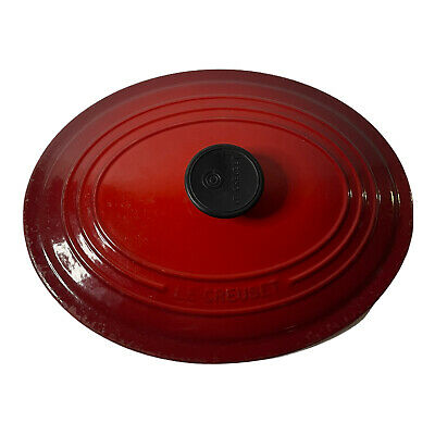 $ CDN34.97 • Buy Le Creuset #29 Red Enamel Cast Iron 5 Qt Oval Dutch Oven REPLACEMENT LID ONLY