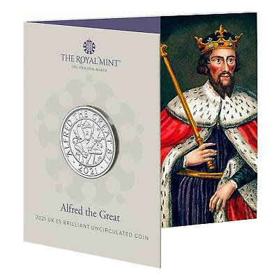 £13 • Buy 2021 Alfred The Great UK £5 Coin In Royal Mint Sealed Pack