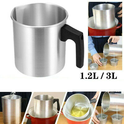 £8.98 • Buy 1.2L/3L Wax Melting Pot Stainless Steel Double Boiler DIY Wedding Scented Candle