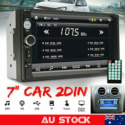 AU83.99 • Buy 7  Double 2 DIN Head Unit Car Stereo MP5 Player Touch Screen BT Radio FM/USB/AUX