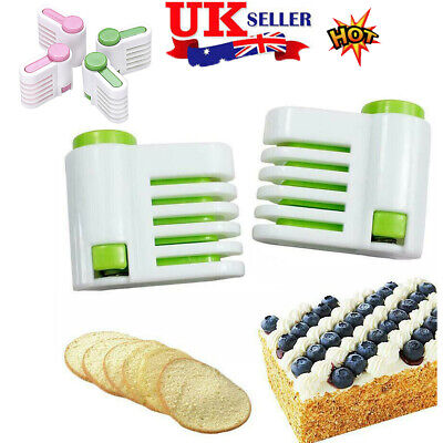 £2.95 • Buy 2pcs Adjustable Cake Slicing Levellers Bread Level Cutting Guides