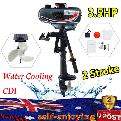 AU298 • Buy 2 Stroke Outboard Motor Fishing Boat Engine 3.5HP Water Cooling CDI Good Quality
