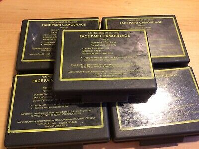 Military Army Camouflage Face Paint , 3 COLOURS - NSN  Unused X 5 Past Expiry • 9.99£