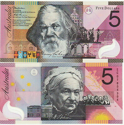 AU27.97 • Buy Australia 5 Dollars  Polymer  Banknote 2001 Choice Uncirculated Condition,Pic#56