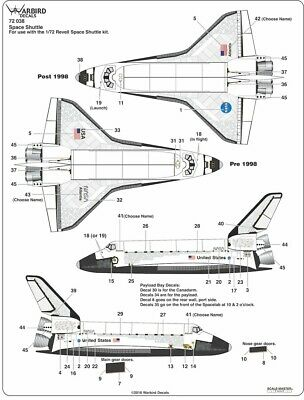 £21.99 • Buy WB72038 NEW Warbird Decals 1:72 Space Shuttle General Markings All Shuttles