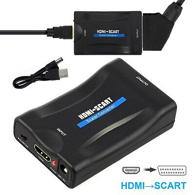 £7.29 • Buy 1080P HDMI To SCART Adapter Video Audio Converter USB Cable DVD TV PS3 SkyBox