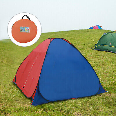 AU47.30 • Buy Pop Up Hiking Large Tent 3-4 Man Person Family Camping Outdoor Festival Shelter