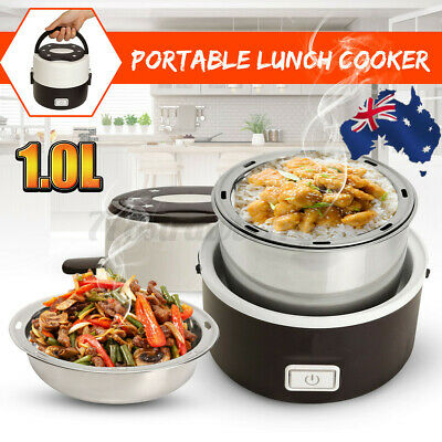 AU24.99 • Buy Portable Electric Lunch Box 2 Layer Steamer Cooker Pot Can Cooking/Heating Rice
