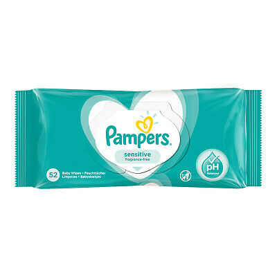£3.77 • Buy Pampers Sensitive Baby Wipes - 52 Wipes