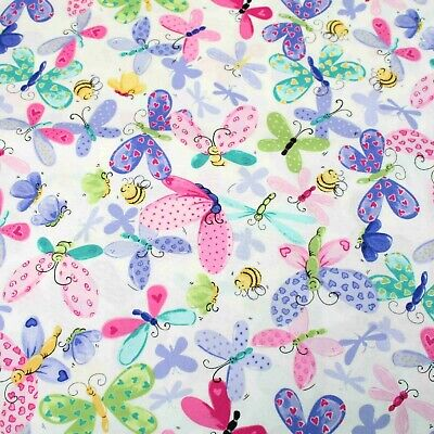 £3.50 • Buy Butterfly By World Of Susybee 100% Cotton Quilting Craft Backing Clothes Fabric