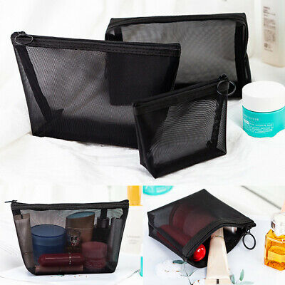 £3.17 • Buy Make-Up Cases Mesh Organizer Pouches Makeup Bag Cosmetic Storage Net Yarn Bags
