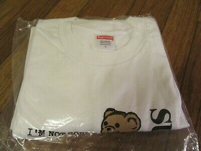$ CDN120.09 • Buy Supreme Not Sorry Tee T-Shirt Size Large White SS21 Supreme New York 2021 New DS