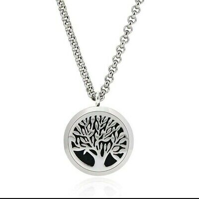 AU21.99 • Buy Tree Of Life Essential Oil Diffuser Necklace