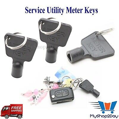 £3.99 • Buy Meter Key Gas Electric Box Cupboard Cabinet Service Utility Triangle Reading DIY