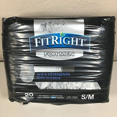 $11.95 • Buy Fit Right For Men Disposable Underwear (20 Pack) S/M NEW