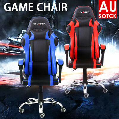 AU95.39 • Buy  Gaming Office Chair Office Computer Leather Chairs Racer Executive Racing Seat