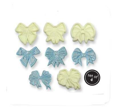 JEM Decorative Bows Icing Cutter Cut Out Sugarcraft Cake Decorating Tool Set / 4 • 9.99£