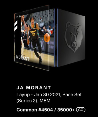 $30 • Buy JA MORANT NBA Top Shot #4504/35000 Series 2 CC Layup Base Set NFT Moment📈🔥