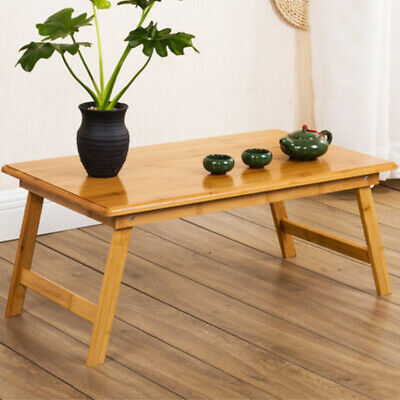 £15.95 • Buy Portable Bamboo Wood Folding Laptop Stand Sofa Bed Desk Lap Table Breakfast Tray