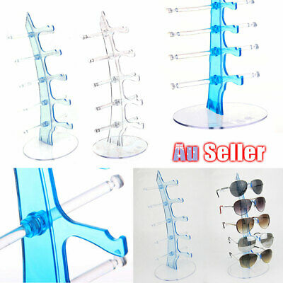 AU13.90 • Buy 5 Pair Glasses Display Stand Holder Rack Show Sunglasses Counter Plastic