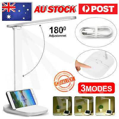 AU12.85 • Buy Touch LED Desk Lamp Bedside Study Reading Table Light USB Ports Dimmable AU