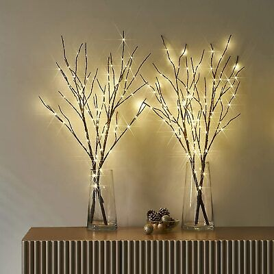 £5.75 • Buy 5X Branch Lights 20 LED Willow Twig Lighted Branch DIY Tree Willow Lamp Battery