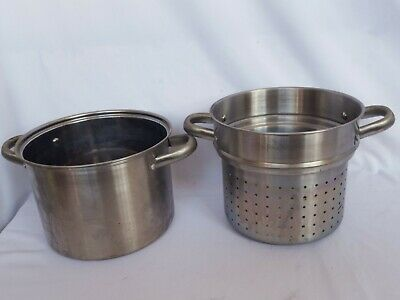 £24.99 • Buy Cooking Pot And Colander Pot Stainless Steel With Handles Catering