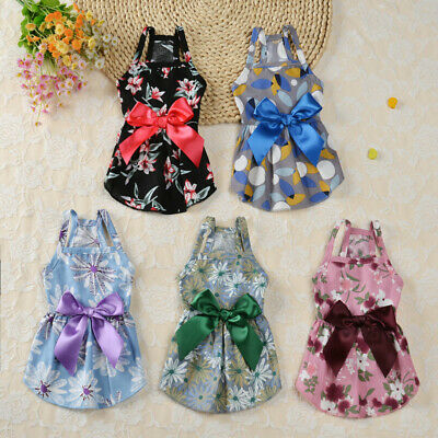 £3.25 • Buy Cute Cat Skirt Pet Dog Clothes Dress Clothing Apparel For Small Dogs Chihuahua