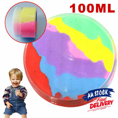 AU11.25 • Buy Rainbow Cotton Fairy Slime Fluffy Ice Cream Mud Cloud Stress Relief Kids Toy