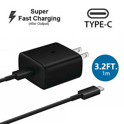 AU19.36 • Buy 45w USB-C Super Fast Wall Charger+1M Cable For Samsung Galaxy Note20 Note10 US