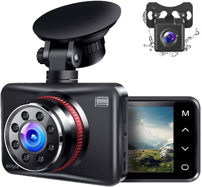AU111.26 • Buy Ainhyzic Dash Cam Front And Rear Dual Dash Camera For Cars With FHD 1080P,Touch