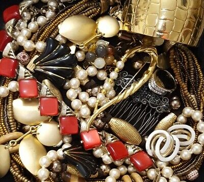 $ CDN60.49 • Buy Vintage Now NOT Junk Drawer Jewelry Lot Unsearched Untested Estate All Wear L887