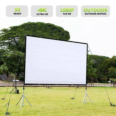 AU32.56 • Buy 120  Foldable Portable Projector Screen 16:9 Rear Front Projection Home Theater