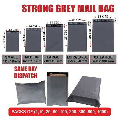 £1.95 • Buy Grey Mailing Bags Strong Poly Postal Post Postage Self Seal Packaging Shipping