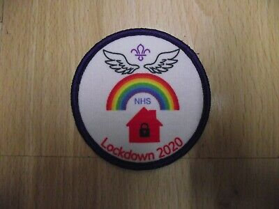 £2 • Buy Lockdown 2020 Scout Cubs Beavers Guides Blanket Badge 8cm Limited Edition