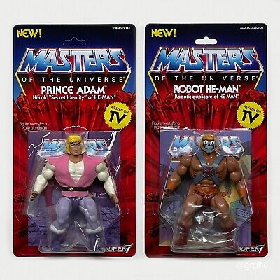 $49.99 • Buy Masters Of The Universe Prince Adam & Robot He-Man Super7 Vintage Filmation MOC