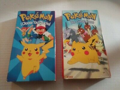 $8.89 • Buy (2) Pokemon VHS - The Great Race & I Choose You Pikachu - Tested & Play Great