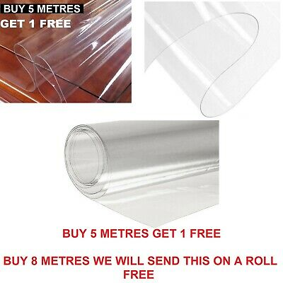 £4 • Buy Clear Plastic Waterproof Tablecloth Protector Vinyl PVC Shower Curtain PPE OFFER
