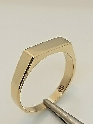 AU249 • Buy 100% Vintage Solid  9ct Yellow Gold  Flat Top Ring, Size U, 4.25grams