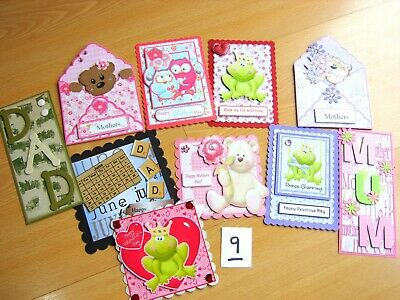 £5 • Buy 10 Card Making Embellishments Occasions Mothers Fathers Day Valentines Etc Lot 9