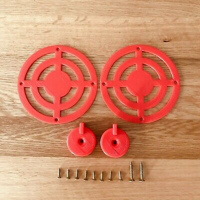 £6.99 • Buy Mud Kitchen Cooker Rings And Knobs In Red - Mud Kitchen Accessories