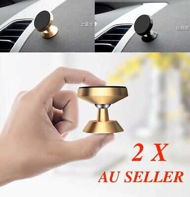 AU13.99 • Buy 2X Phone Holder Universal Magnetic Magnet Dashboard Mobile Dash Car Mount Stand