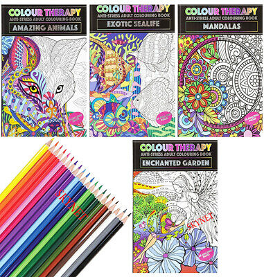 £3.99 • Buy NEW EDITION A4 ANTI-STRESS ADULT COLOURING BOOK BOOKS RELAX Therapy FOR ADULTS